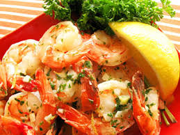 Shrimp with Basil Lemon Butter